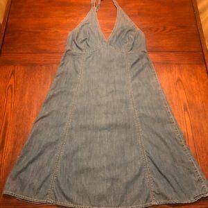 Access Liz Claiborne Jean Halter Dress